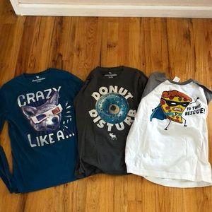 Boys long sleeve lot: Abercrombie kids & Gymboree